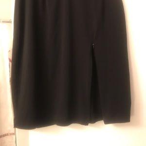 Rafaella Skirts - Skirt with zipper side slit